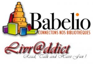 Logos des sites Babelio et Livraddict